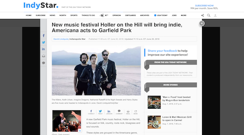Marketing & Resources| Holler on the Hill Festival